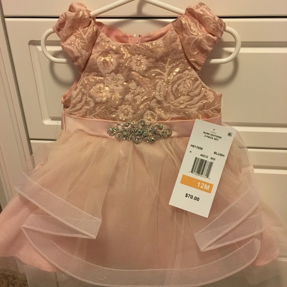 Rare Editions Other - NWT Blush Rare Editions dress, size 12 months.